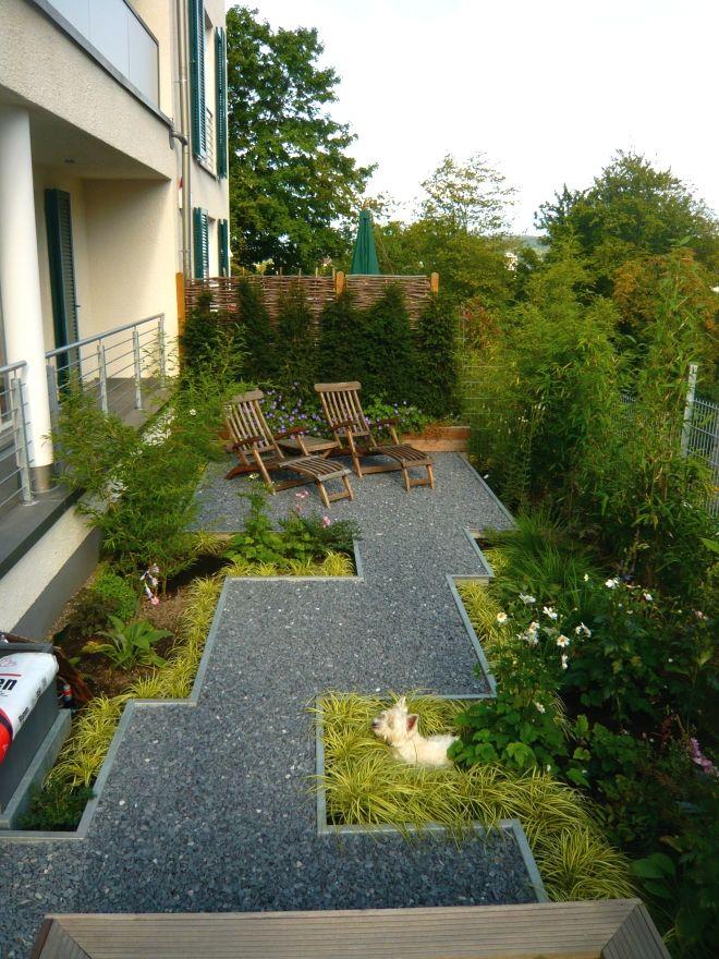 Kleiner Garten als Wohnraum   Schmaler garten ...