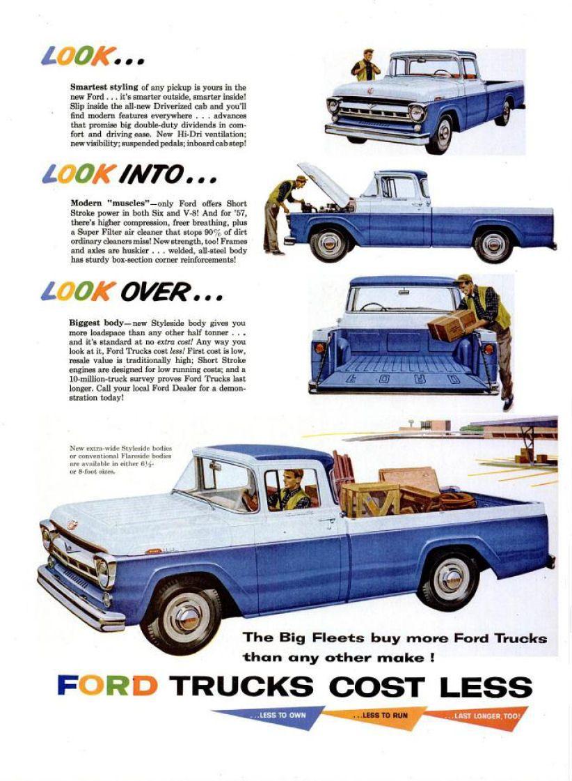 1958 Ford Truck Ad 03 Classic Trucks Ford Trucks Old Ford Trucks