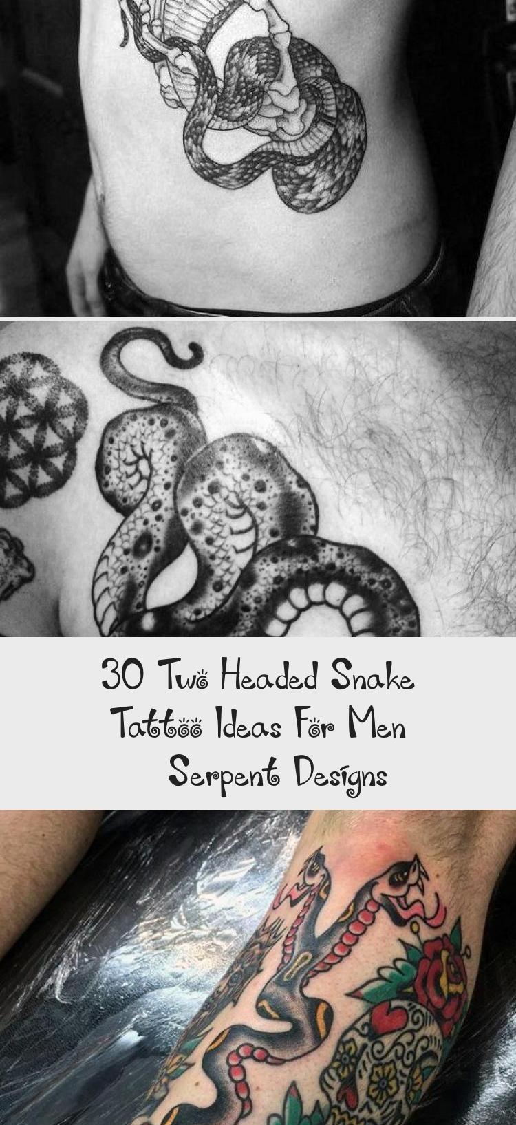 Photo of 30 idées de tatouage de serpent à deux têtes pour hommes – Designs de serpent – Tatouages