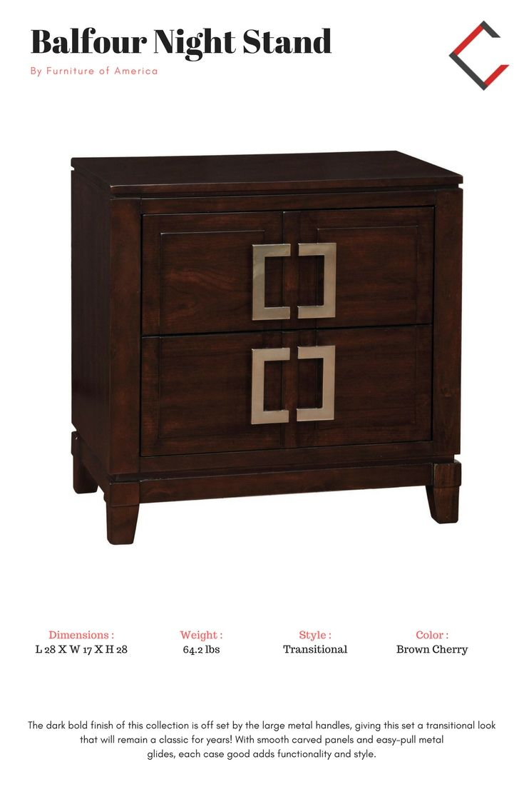 Furniture of america balfour night stand the classy home furniture mall pinterest night stand