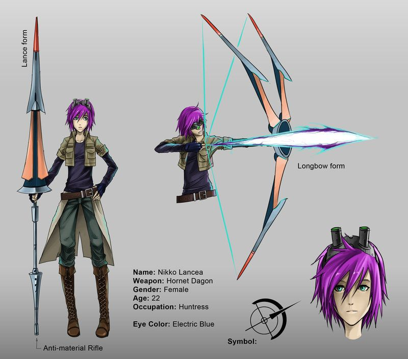 Character Design Oc : Rwby oc character sheeeet by lazymk viantart on