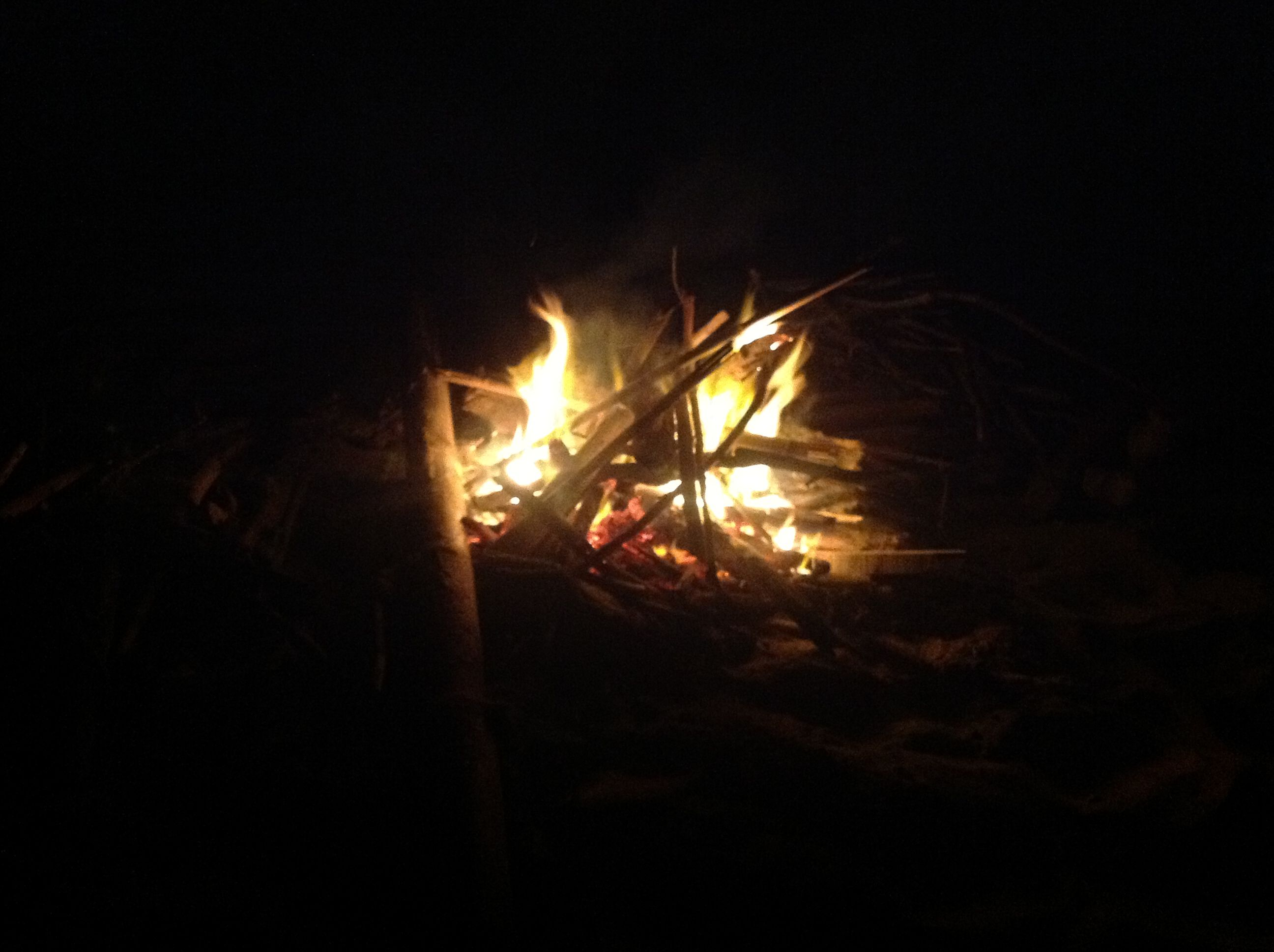 Photo 16 Building a fire on the beach