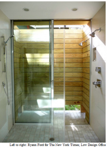 outside shower that connect to inside?  way cool.  could do off my bathroom.