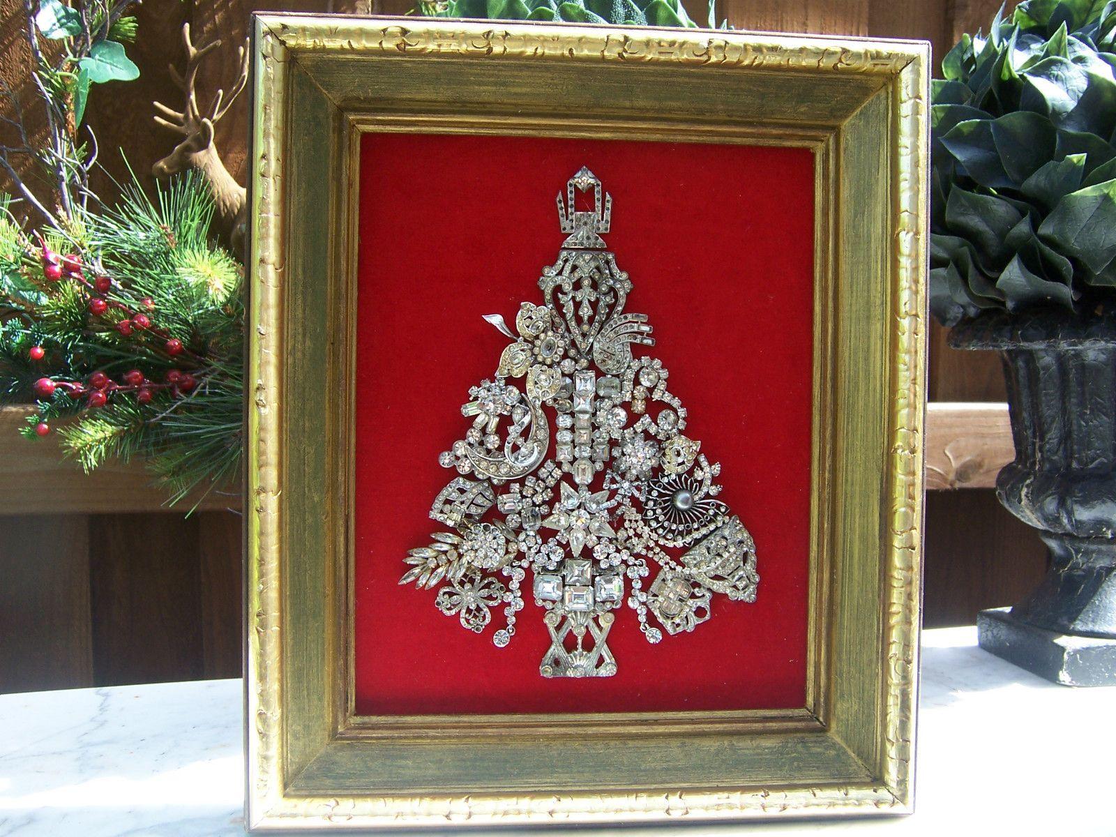 Rhinestone Crafts, Rhinestone Jewelry, Vintage Rhinestone, Jewelry Tree, Jewelry Frames,
