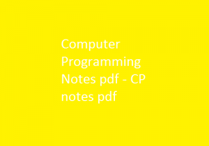 Here you can download the free Computer Programming Pdf