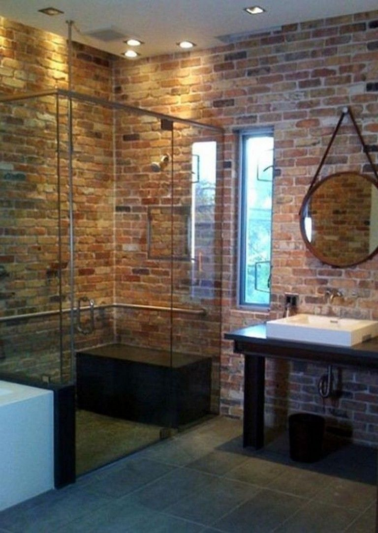 20 gorgeous brick shower wall tile designs vintage