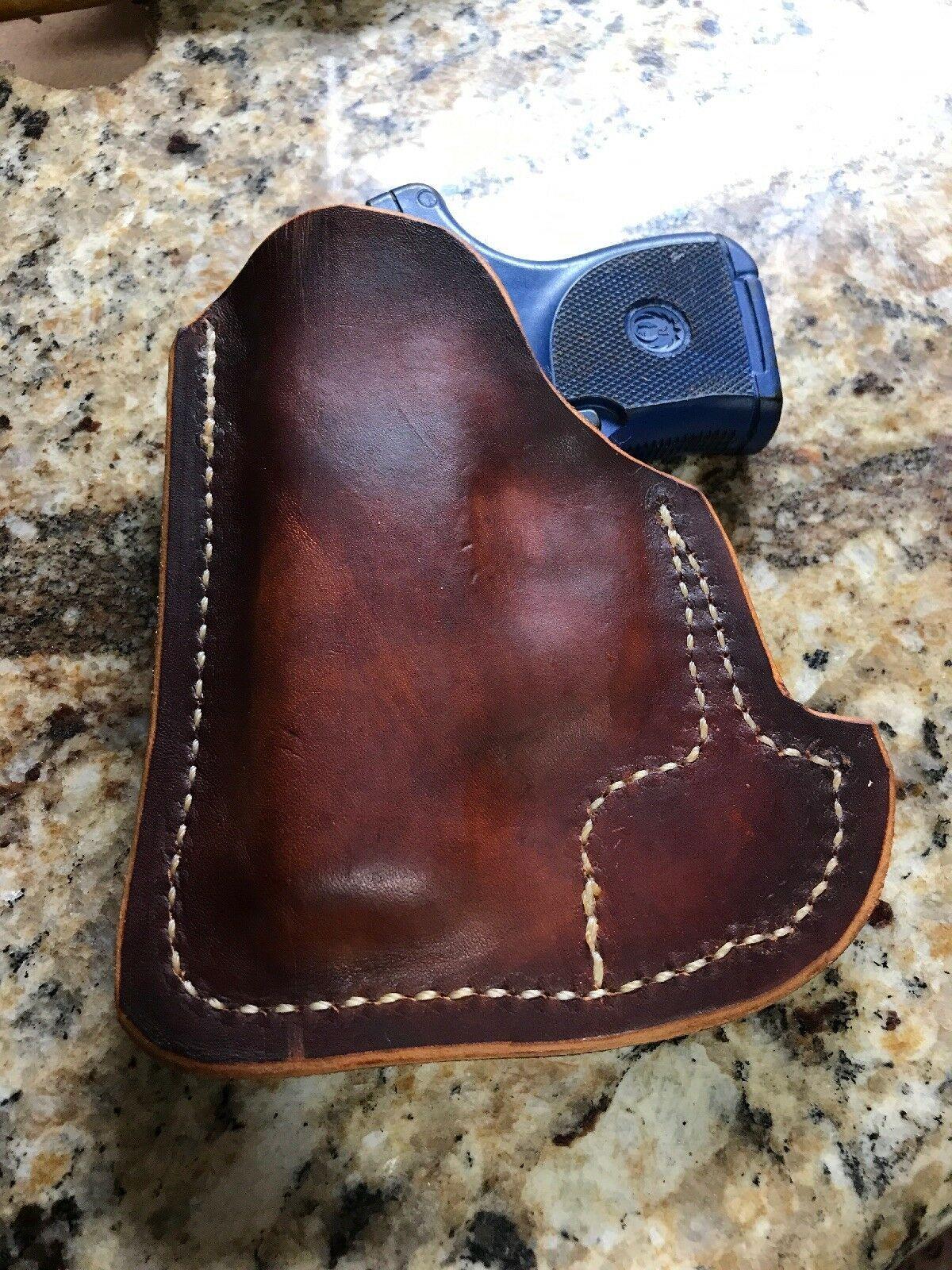 RUGER LCP  380 Custom Moulded Leather Pocket Concealment