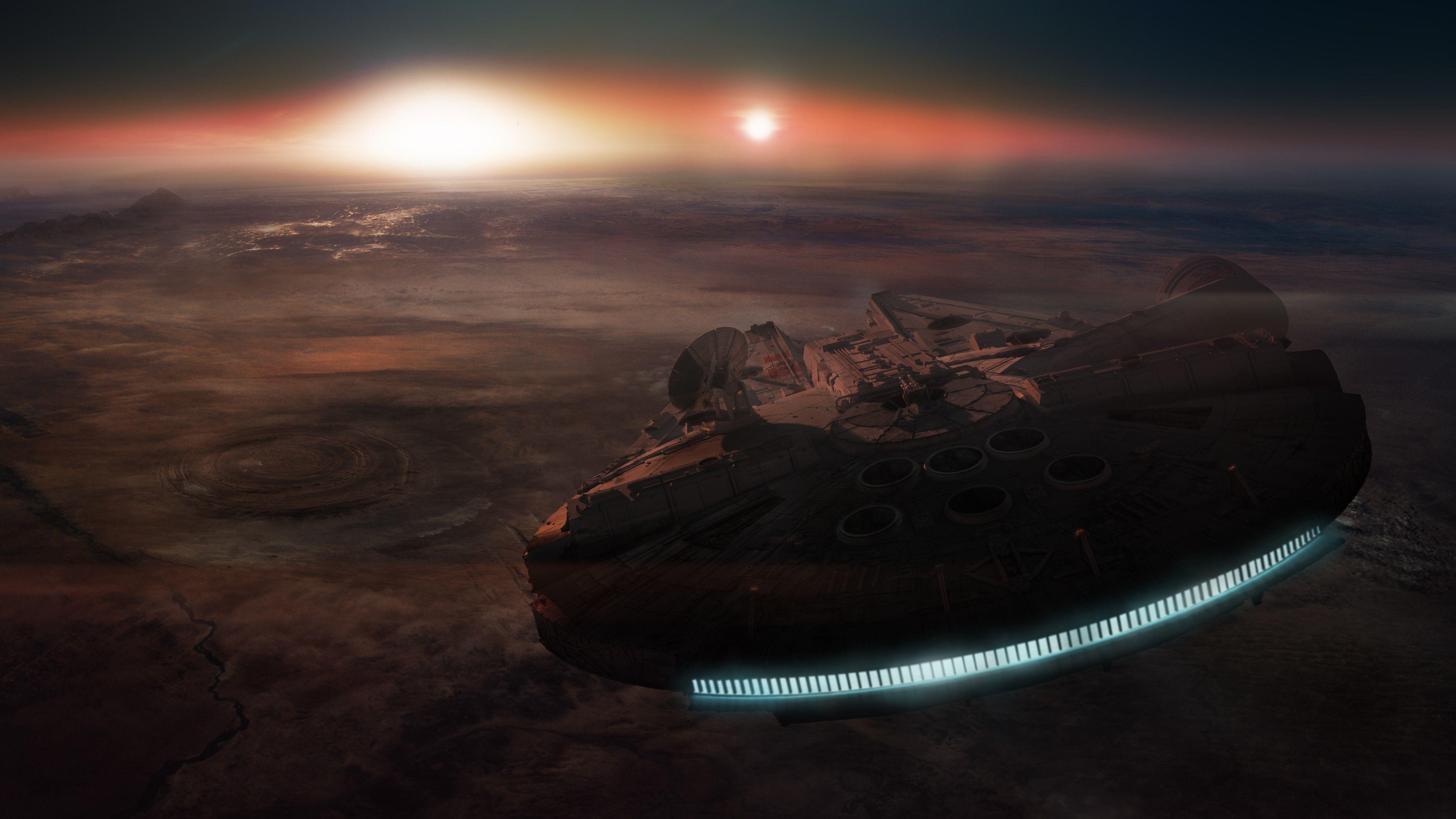 Fresh Millennium Falcon 4k Em 2020 Quadros Papeis De Parede