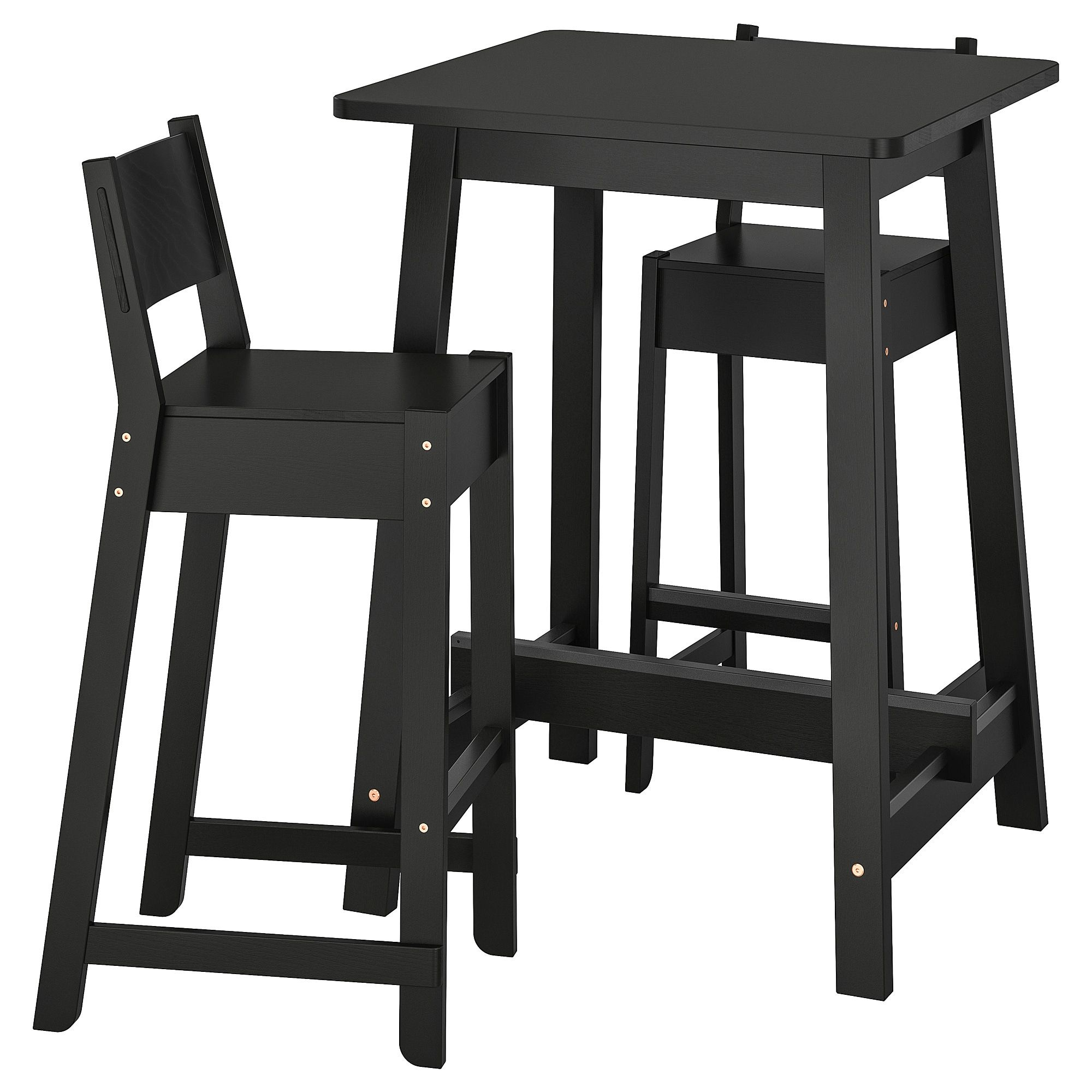 Ikea Norraker Norraker Bar Table And 2 Bar Stools Black