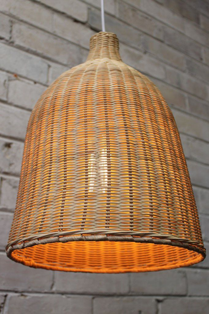 Wicker ceiling light rattan ceiling lights rattan and ceilings wicker ceiling light natural rattan pendant with x large squirrel cage filament bulb mozeypictures Images