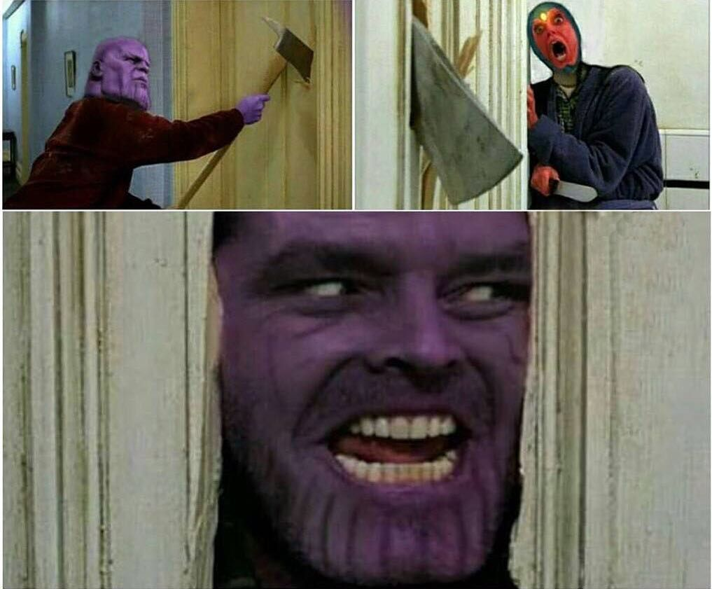 Here's Johnny...Sorry Here Is Thanos!!! There Stone, Stone