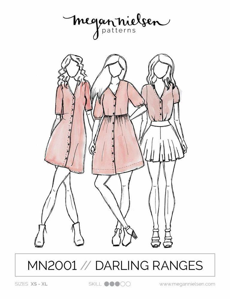 Darling Ranges Dress and Blouse | Megan Nielsen | Pinterest ...