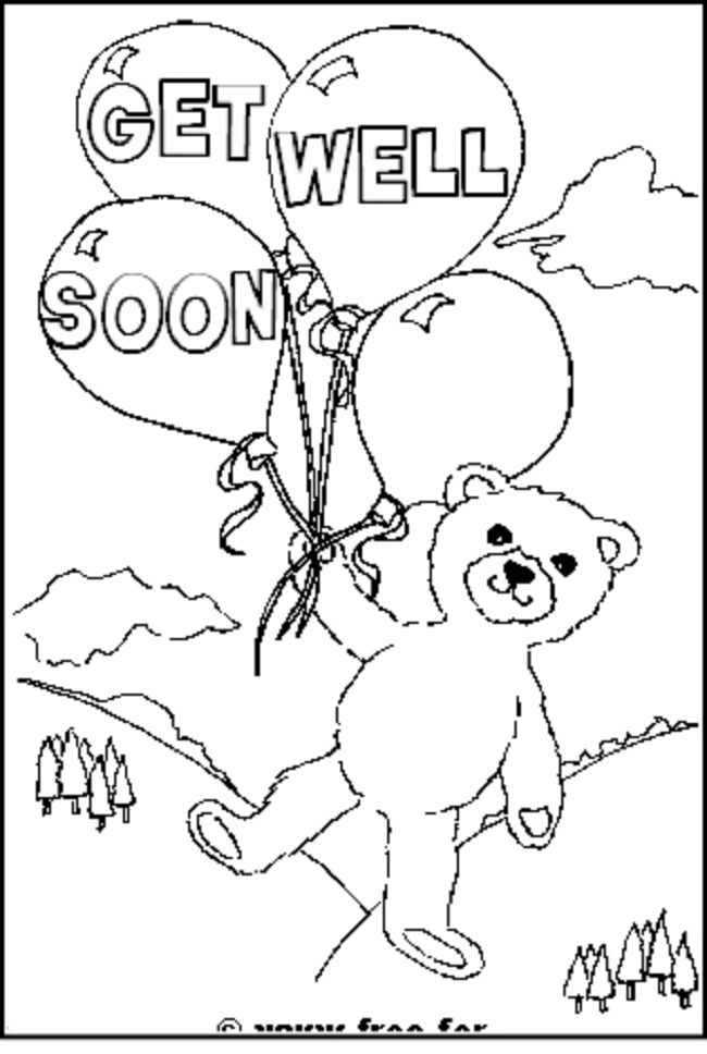 coloring pages of funny get well pictures