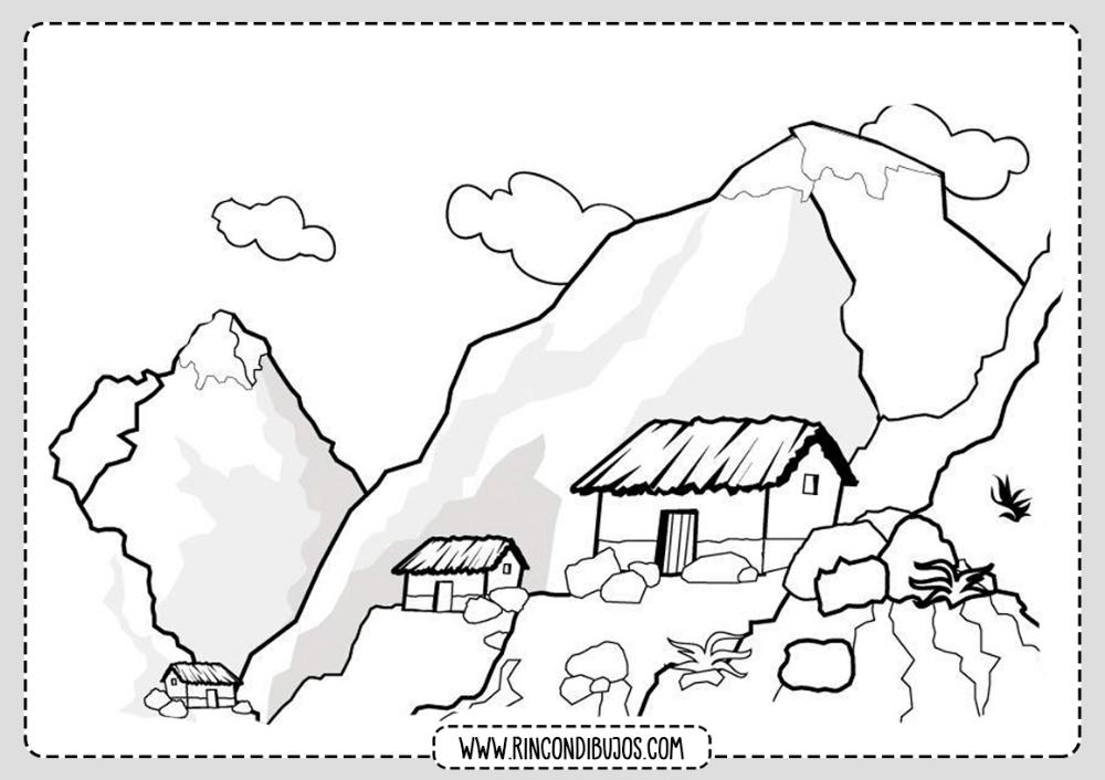 Dibujo Paisaje De Montanas Para Colorear Rincon Dibujos Paisajes Dibujos Paisaje Para Colorear Dibujos Para Colorear Paisajes