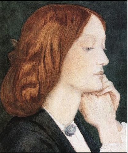 Elizabeth Siddal by Dante Gabriel Rossetti --- another model for Alison's hair tonight. (ha ha!)  Really love Rosetti and Siddal (especially their poetry)