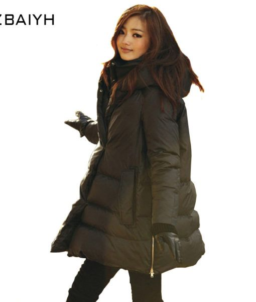 AliExpress : 16 New Long Parkas Black Atraight-type Jacket Casual Style Large Size Hot Female Women Coat Thickening Cotton Winter Jacket
