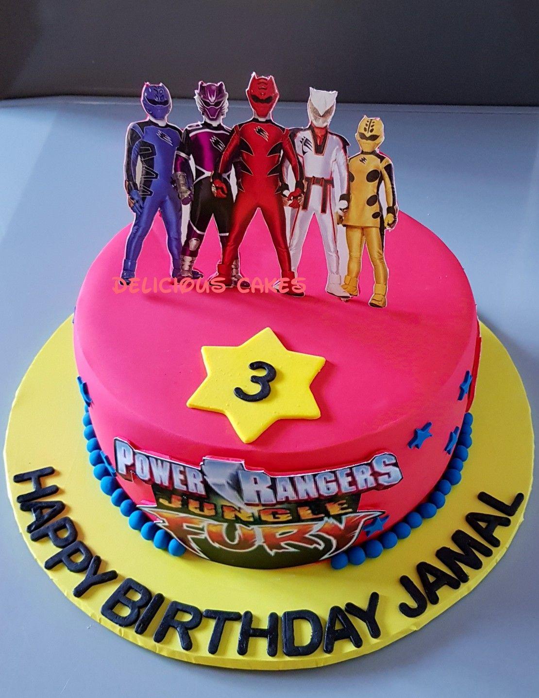 Power Rangers Jungles Fury Cake Cake Power Rangers Jungle Fury Birthday Cake