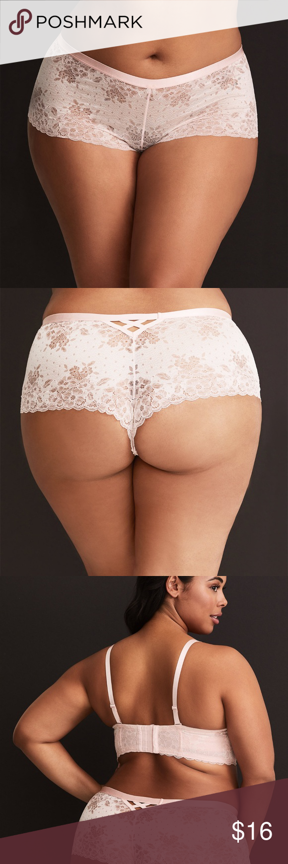 08f757fb33aa Torrid Light Pink Lattice Lace Cheeky Panty N103 Crafted in a delicate light  pink lace, this cheeky panty is accented with a contrasting lattice cutout  in ...