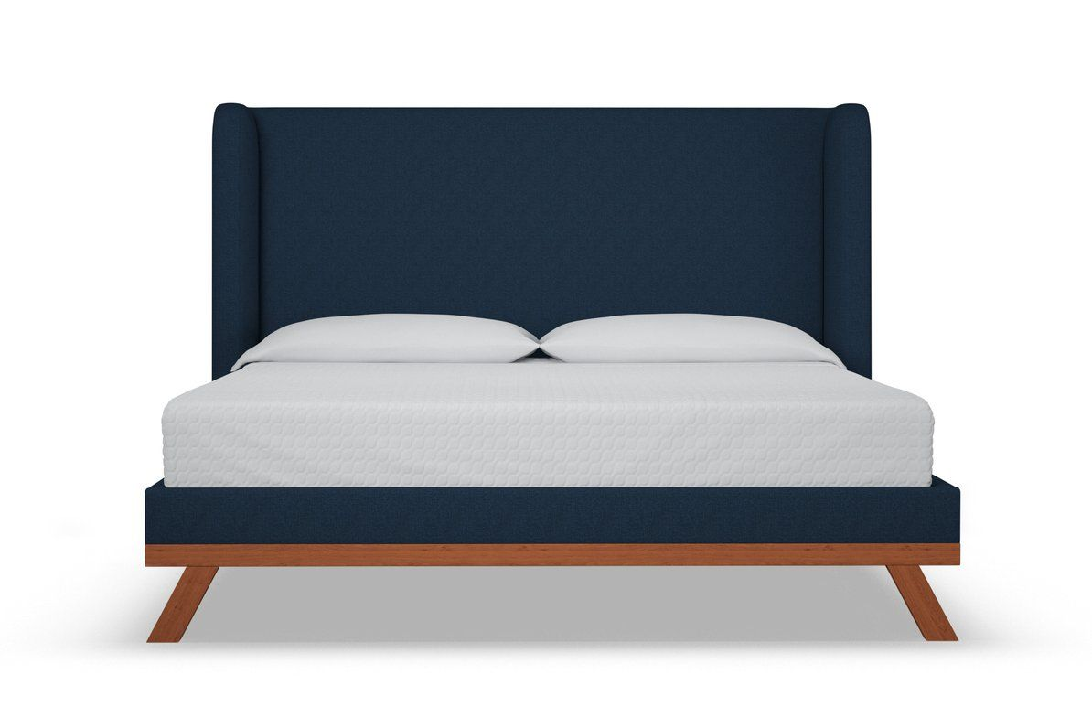 Tatum Upholstered Bed Leg Finish Pecan Size Queen Size Upholstered Beds Contemporary Bed Modern Bed