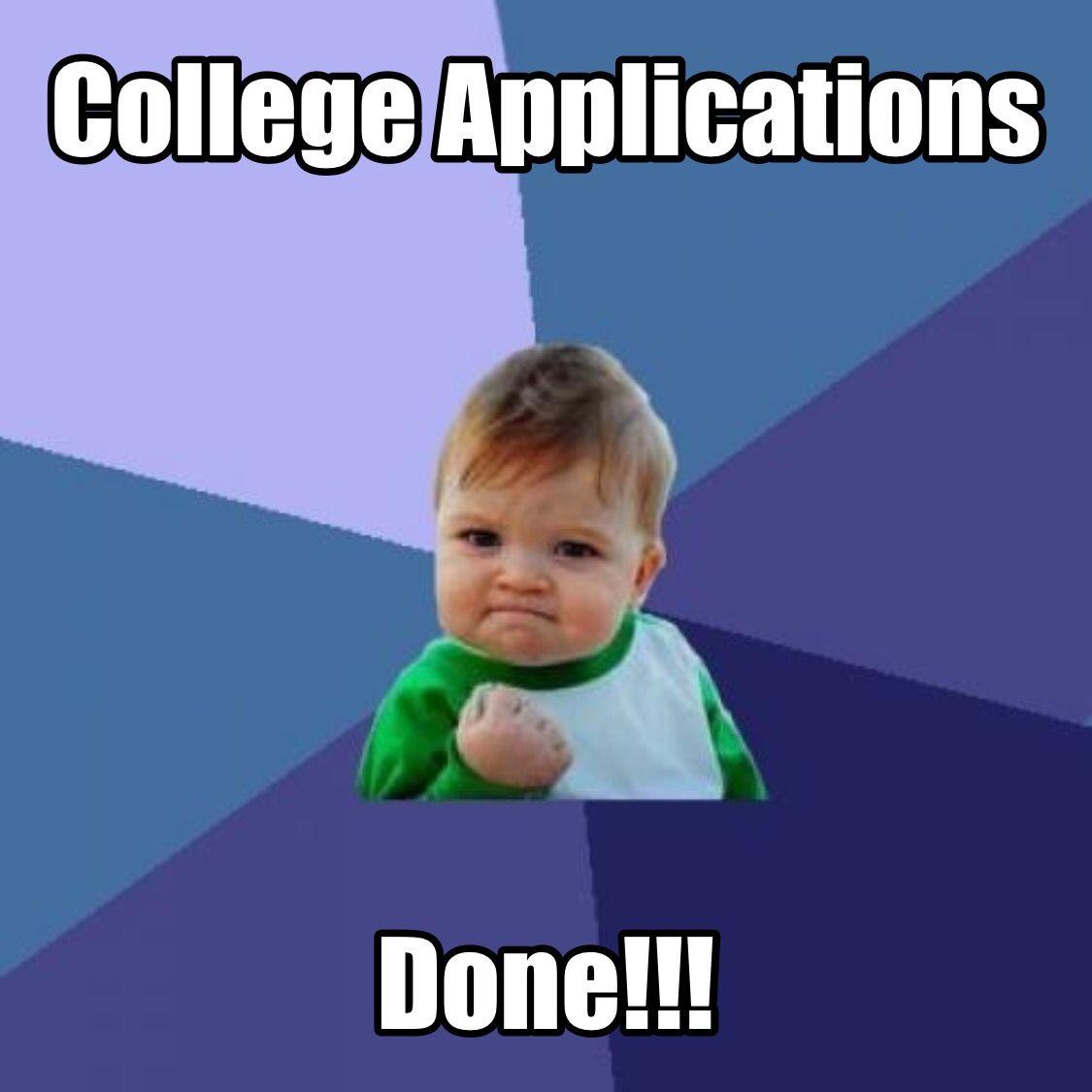 College Apps Success Kid Pharmacy Humor Christian Memes