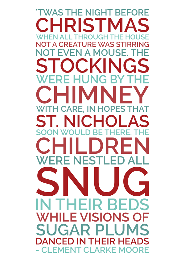 graphic regarding Twas the Night Before Christmas Poem Printable referred to as Pin upon sbooking