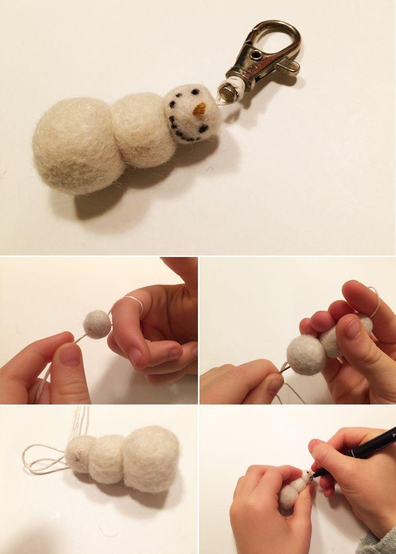 lasten | lapset | askartelu | joulu | käsityöt | kädentaidot | koti | idea | huopa | huovutus | pallo | koriste | avaimenperä | DIY ideas | kids | children | crafts | christmas | felt | felting | ornament | key | fob | home | Pikku Kakkonen