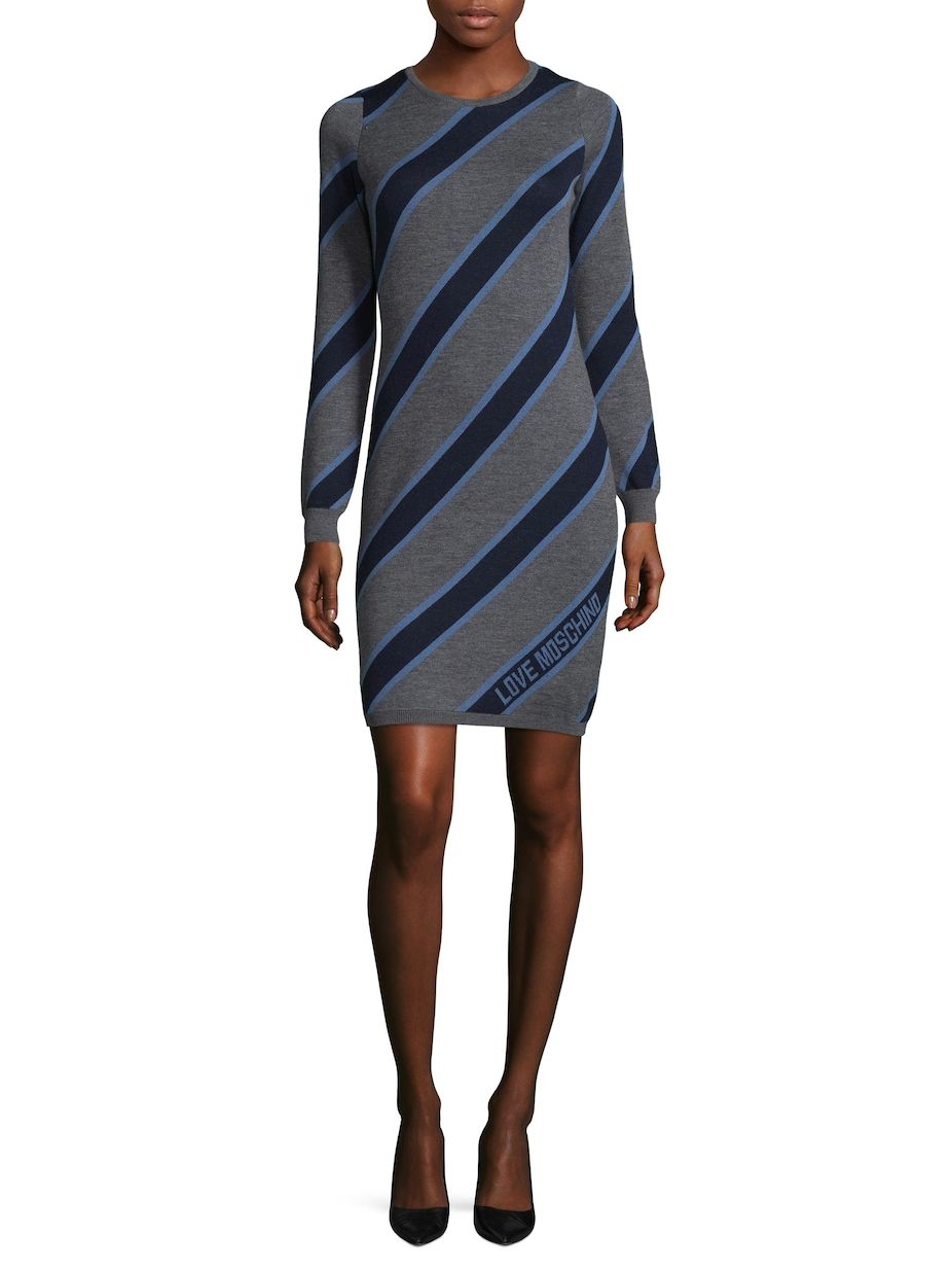 fda5110a341 Diagonal Striped Sweater Dress by Love Moschino at Gilt