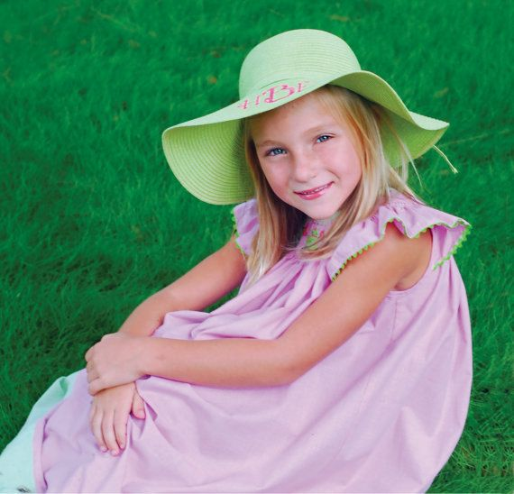 96cc3288e88 Little Girls Floppy Hat by AddiandBrooks on Etsy
