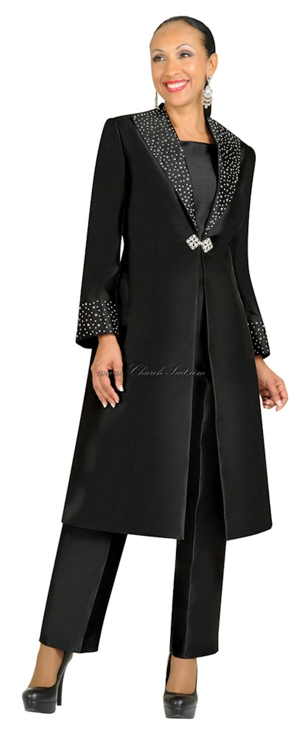 Nubiano N95803 Black Ladies Church Suit Beautiful Saw One Just Like It At Http Www Womensuitsupto34 Com Women Church Suits Clothes Church Suits [ 1463 x 600 Pixel ]