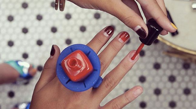 This Hilarious Little Tool Holds Your Nail Polish