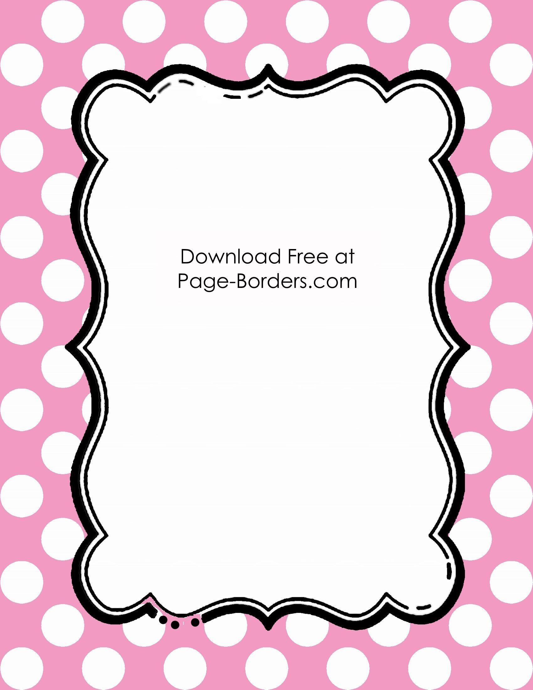 pink polka dot border Bordures de page, Bordures, Étiquettes