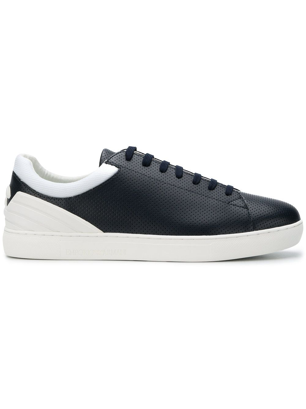 Ea7 Emporio Armani perforated texture lace-up sneakers official site online amazing price clearance with paypal footlocker online yXAPQE