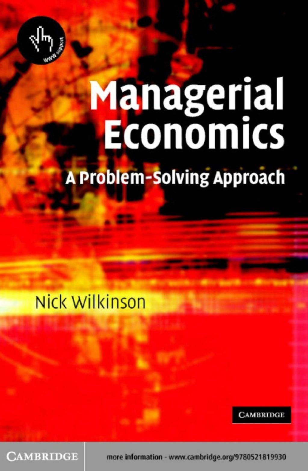Managerial Economics (eBook) Managerial economics