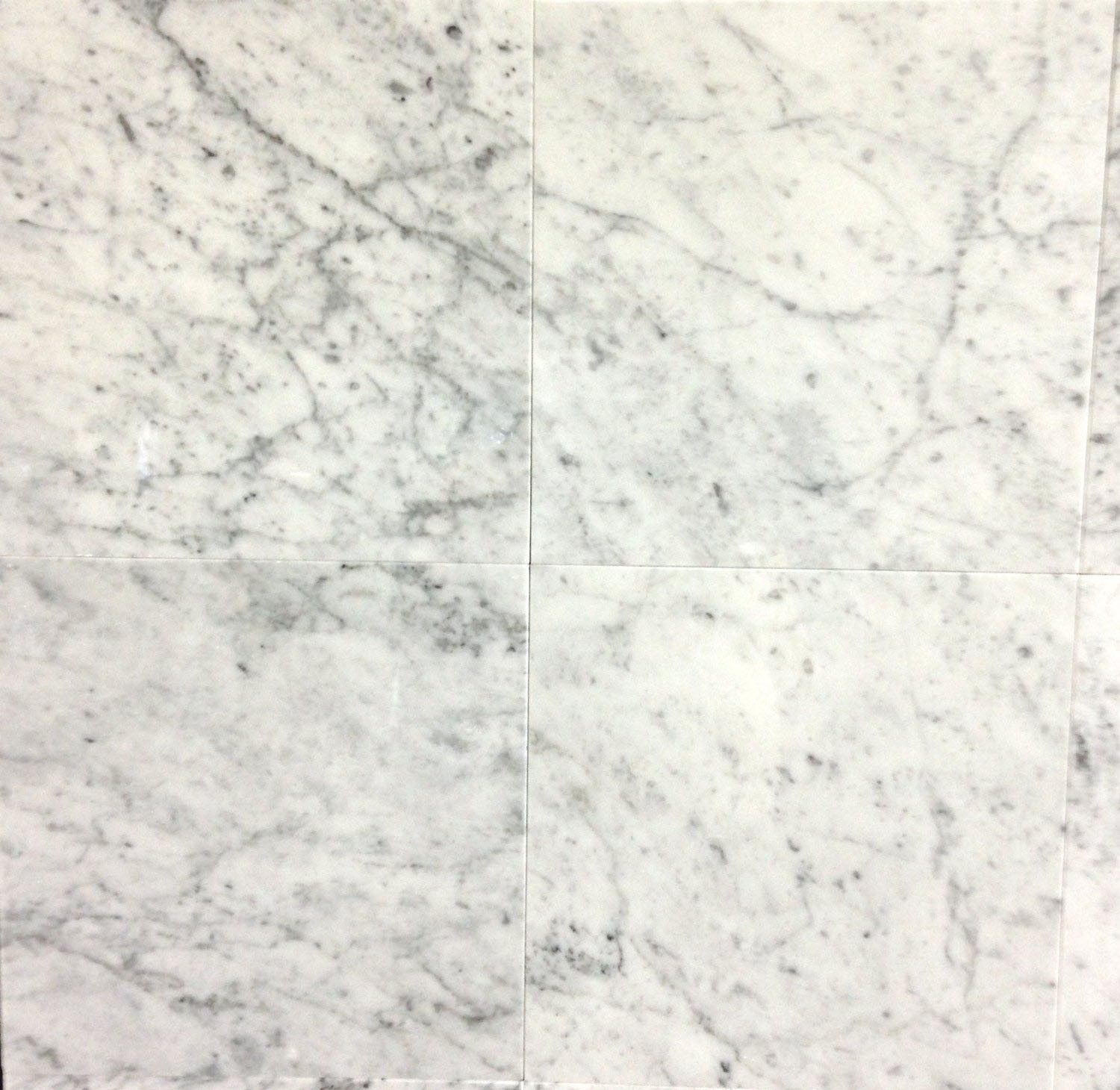 Bianco Carrara White Carrera Polished Marble 12 X 12 Tile Granite Tile Tile Floor Marble Polishing