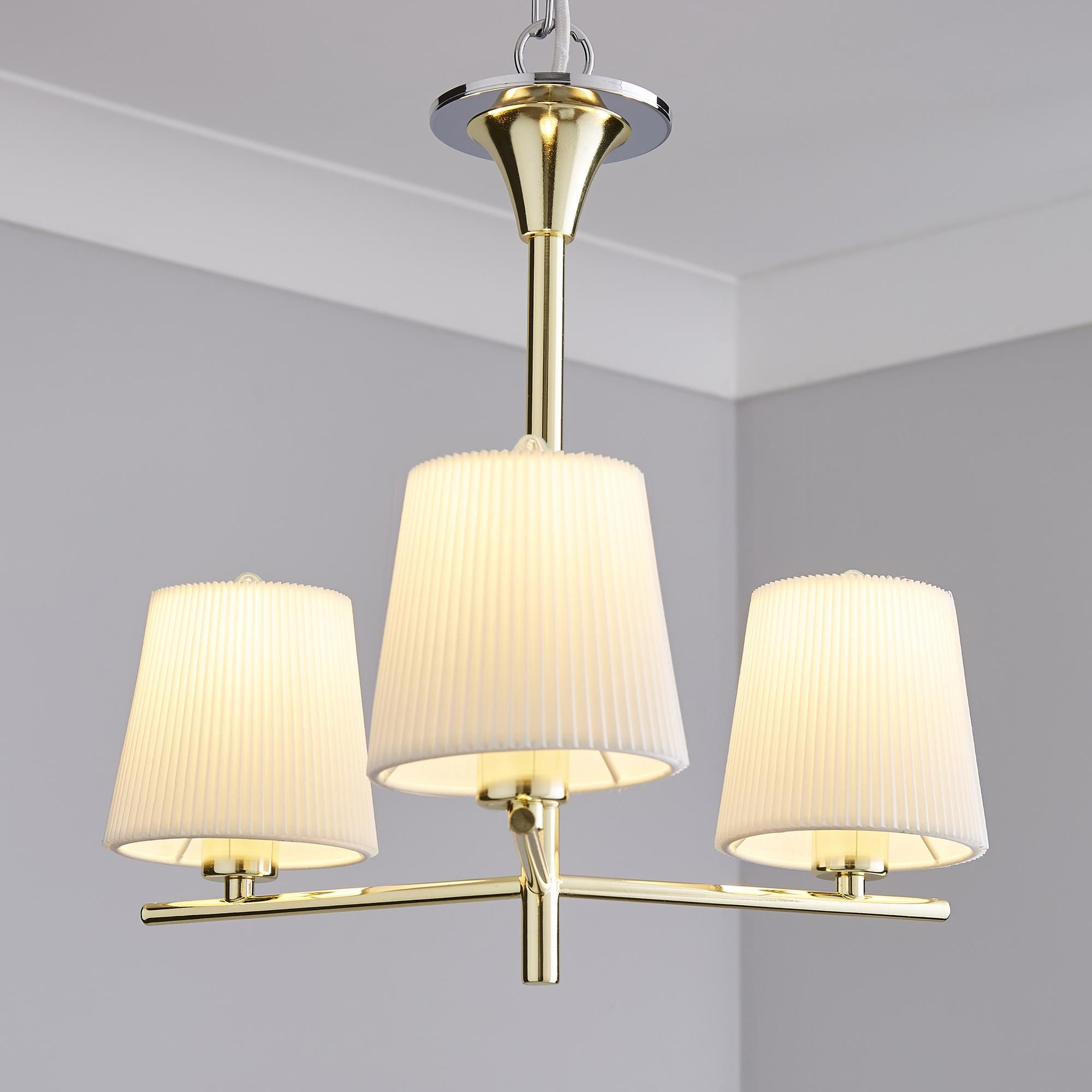 Washington Gold 3 Light Ceiling Fitting Ceiling Lights Ceiling