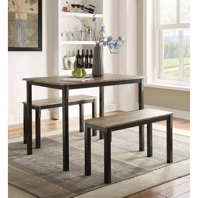 Andover Mills® Rossiter 3 Piece Dining Set  New Apt  Pinterest Glamorous 3 Piece Kitchen Table Set Design Inspiration