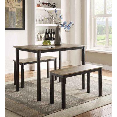 Andover Mills® Rossiter 3 Piece Dining Set  New Apt  Pinterest Glamorous 3 Piece Kitchen Table Set Design Inspiration