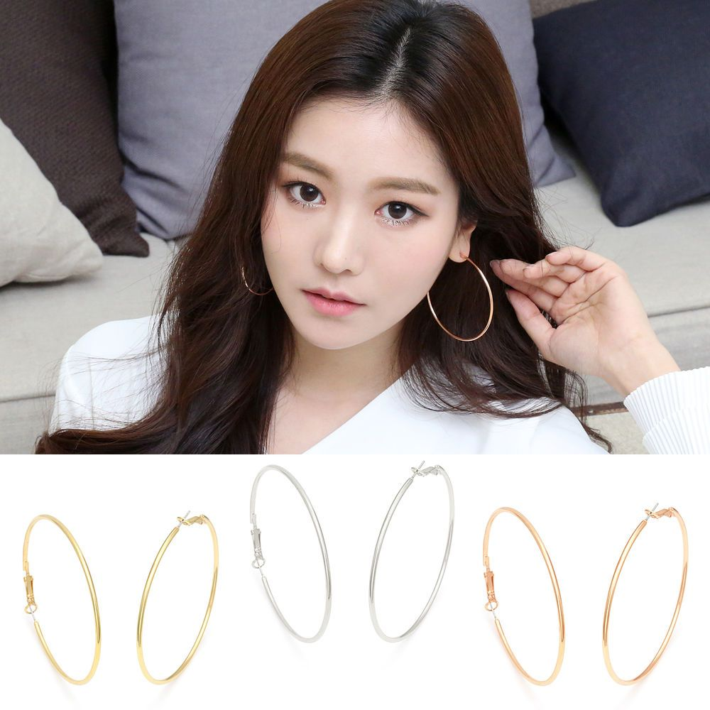 Celebrity Style Jewelry~Stud Earrings 925 Sterling Silvers Needle Made In Korea #WannaBeStones #Stud