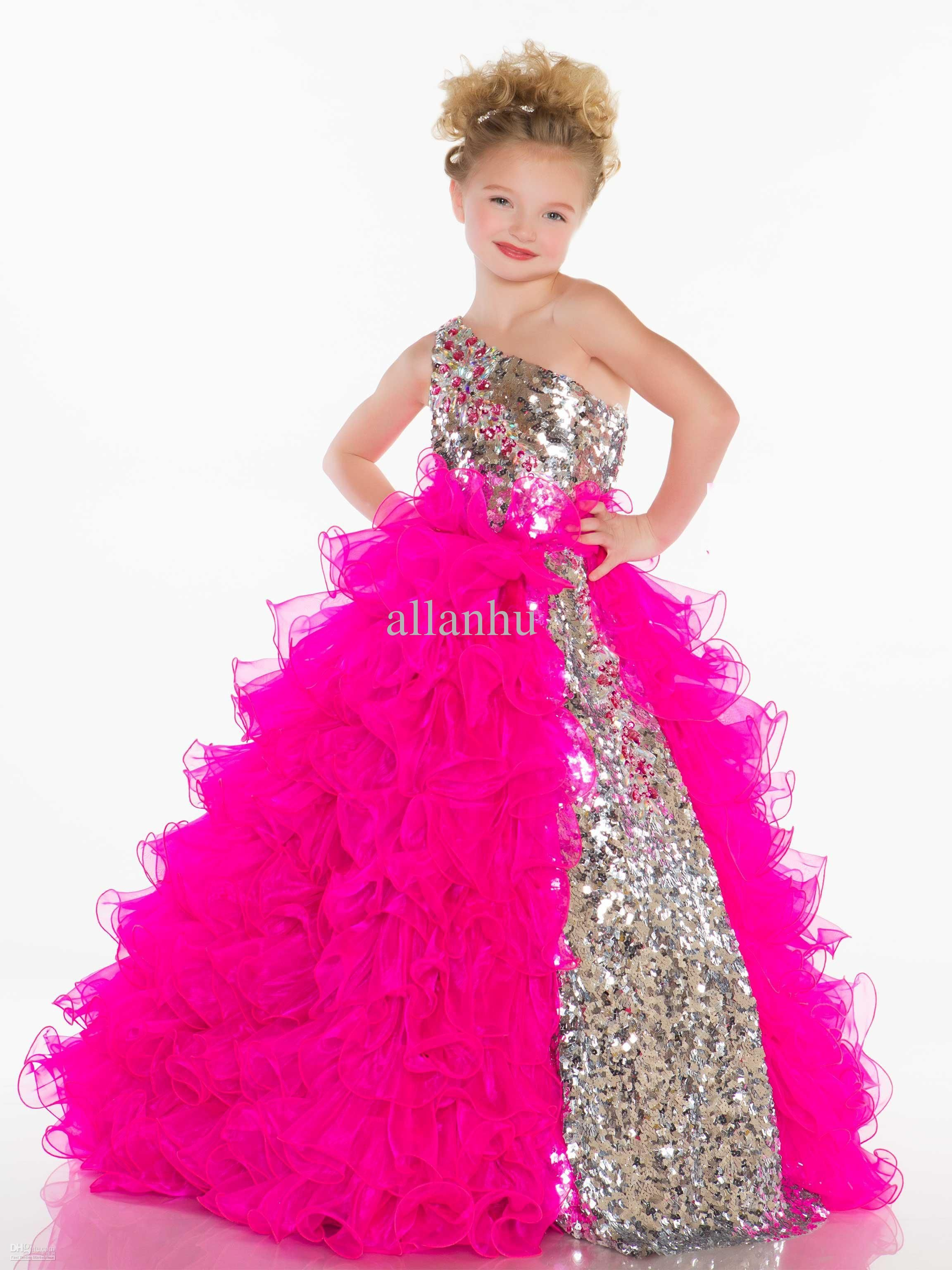 Wholesale 2013 Girl's Pageant Dresses Cute Princess One