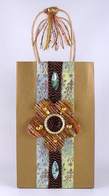 Yarn Flower Gift Bag