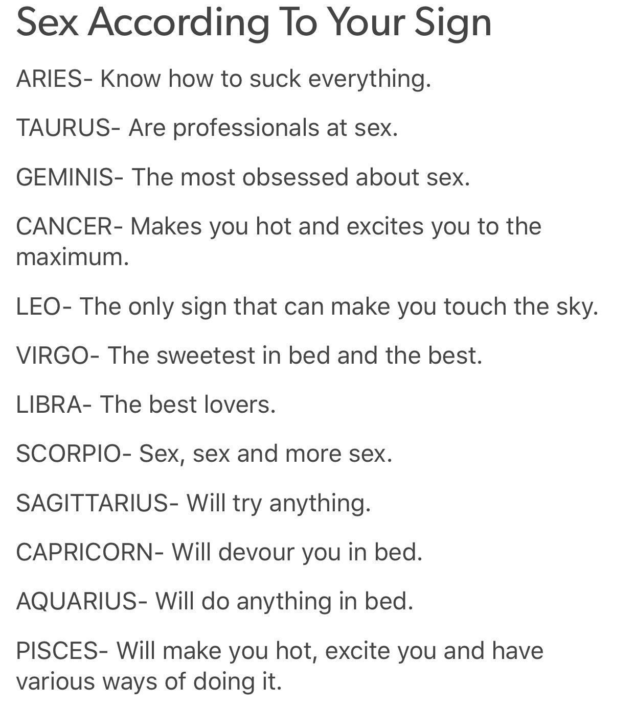 Sexual sign is the which zodiac most Zodiacs Ranked