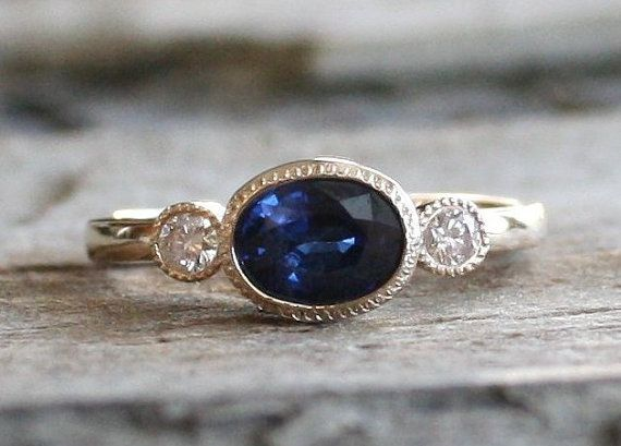 14k Yellow Gold Birthstone Ring