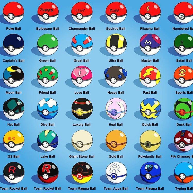 All pokeballs