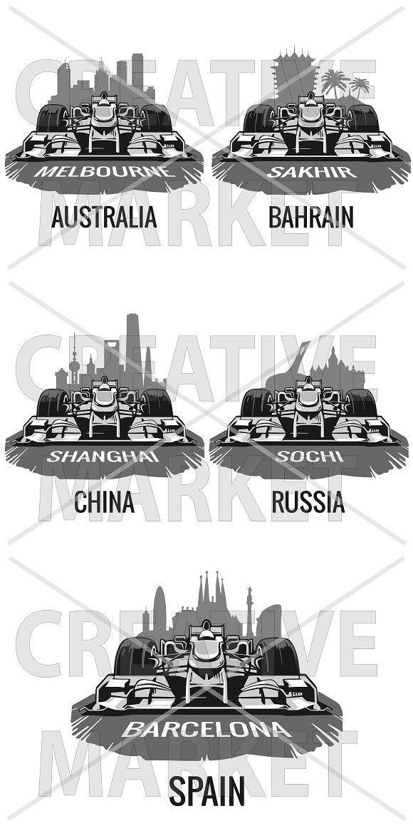 Grand Prix Formula 1. Sport Icons. $3.00