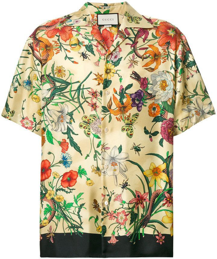 9a62bbb2 Gucci floral print shirt | Beautiful Narlenez // in 2019 | Floral ...