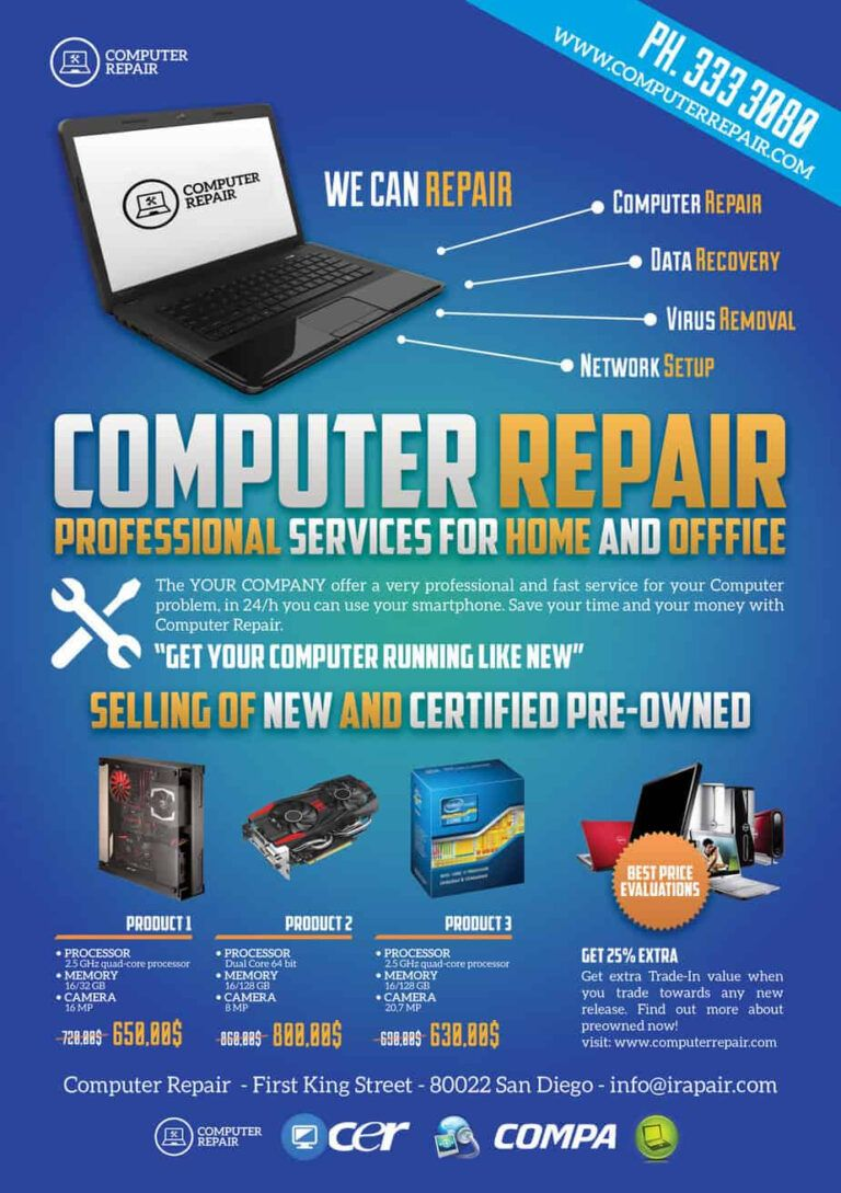 Computer Repair Flyers Word Excel Samples With Computer Repair Flyer Word Template Best Professiona Computer Repair Computer Repair Services Flyer Template