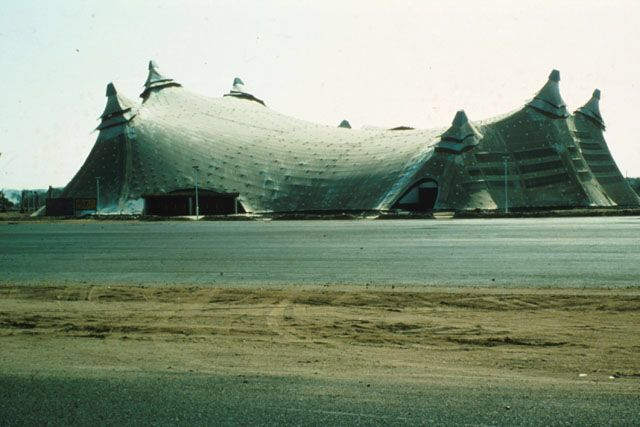 Sports Hall King Abdulaziz University Jeddah Frei Otto Sport Hall Jeddah Structural Engineering