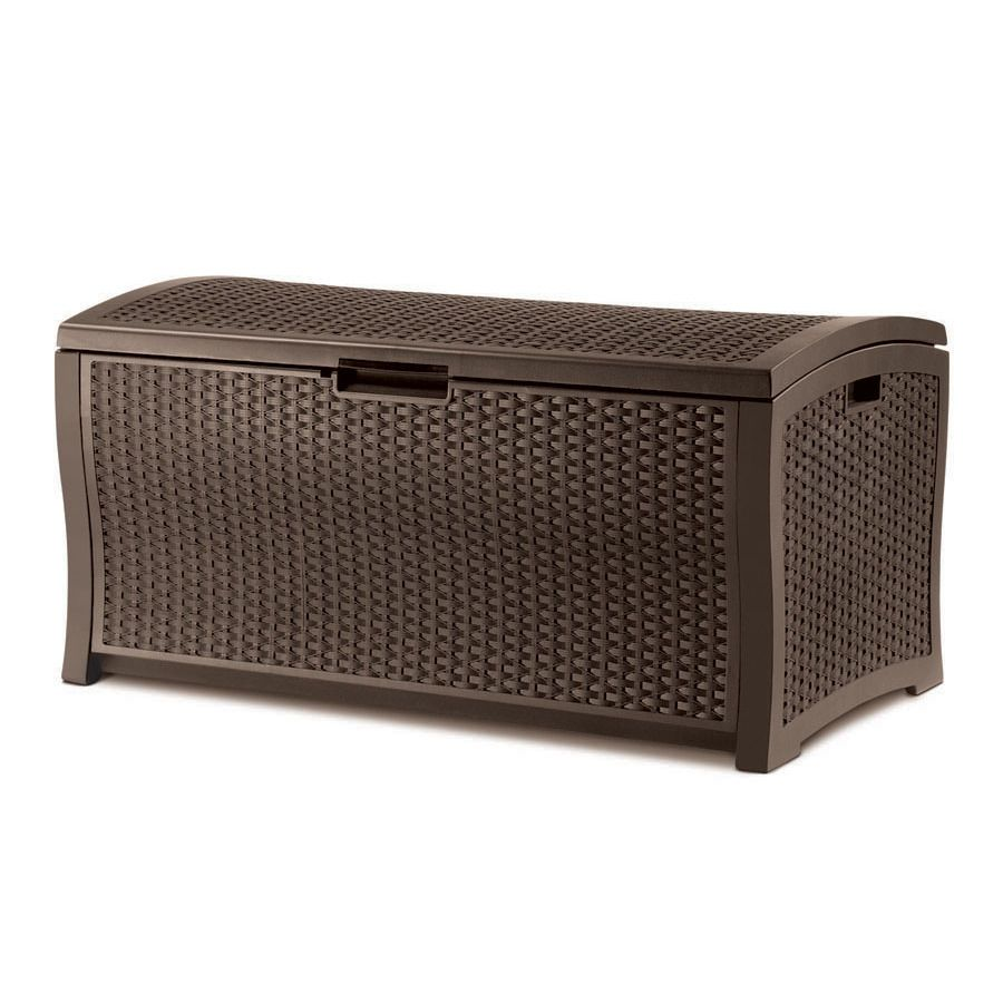 Shop Suncast 122 Gallon Resin Wicker Deck Box At Lowes Com Resin