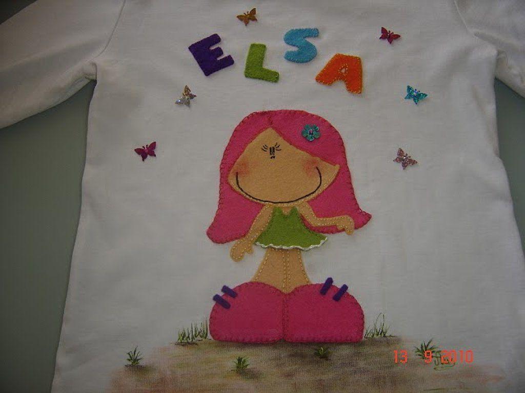 Manualidad Del D A En Facebook 22 06 2011 Es Facil Fieltro Y  ~ Ideas Para Decorar Camisetas Infantiles