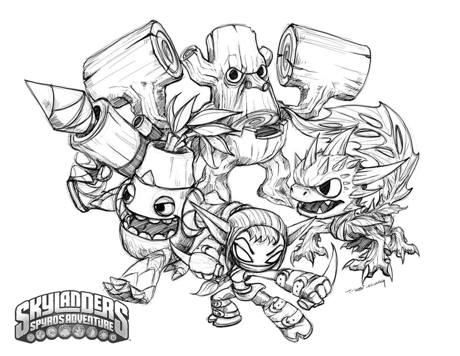 skylanders coloring pages life element right click here select save